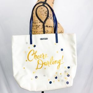 Kate Spade Cheers Darling book tote